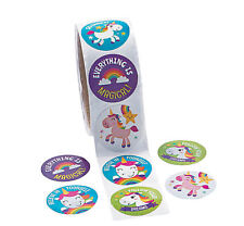 100 Unicorn stickers  Party favors magical Birthday Party Favor fairytale