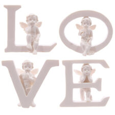 LOVE Set di quattro lettere con CHERUB ORNAMENTI Figure SAN VALENTINO madri giorno