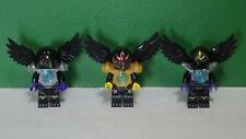 Lot of Three Chima Minifigures - Raven - RAZCAL RAWZOM - Real Lego