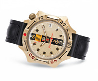Vostok Komandirskie 2414/539217 Watch 17 Jewels Mechanical Mens Soviet Watch