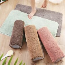 Microfiber Absorbent Shaggy Non-Slip Floor Rugs Doormat Carpet Bath Mat Bathroom