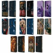 OFFICIAL VINCENT HIE CANIDAE LEATHER BOOK WALLET CASE COVER FOR SONY PHONES 1