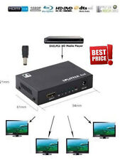 Full HD HDMI Splitter 1X4 4 Port Hub Repeater Amplifier v1.4 3D 1080p 1 in 4 MX