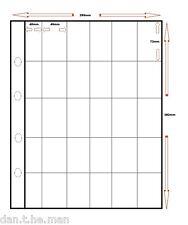 More details for 50 x 25 pocket (4cm x 7cm) summit large album pages / sleeves - cigarette cards