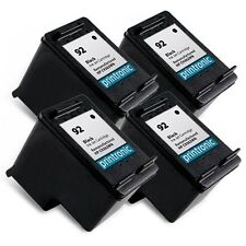 4PK Recycled HP 92 Ink Cartridge C9362WN - PhotoSmart C3180 C4180 Inkjet Printer