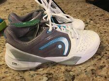 Head Revolt Pro Women's Tennis Shoes Sneakers - White/Cyan/Blue Size 9 New