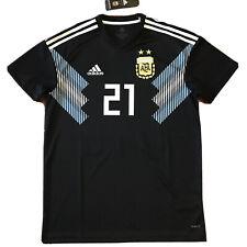 2018 Argentina Away Jersey #21 Dybala Medium World Cup Soccer ALBICELESTE NEW