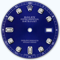 REFINED MENS SS DATEJUST BLUE 8+2 DIAMOND DIAL RT FOR ROLEX-36