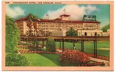 Ambassador Hotel Los Angeles CA Vintage Postcard North Hollywood 1946