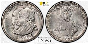 1923 S 50C Monroe Doctrine Commemorative Half Dollar Silver Coin PCGS MS63