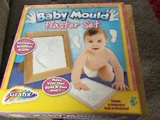 Grafix Make Your Own Baby Mould Plaster Set Hand & Foot Prints in Frame Age 5