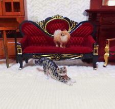 OOAK 1: 12  TABBY CAT kitten HANDMADE realistic sculpture Dollhouse miniature