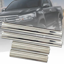 SCUFF PLATE SILL DOOR STEP CHROME FOR TOYOTA HILUX REVO M70 M80 2015 16 17 18