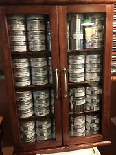 Pipe tobacco tin cabinet Case Holde 65 tobacco tins  Display Storage,Item 450