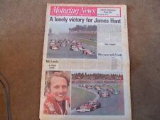 Motoring News 5th August 1976 Nurburgring German GP Niki Lauda F5000 Snetterton