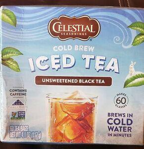 Celestial Seasonings Cold Brew Iced Tea Unsweetened Black Tea - 60 Tea Bags