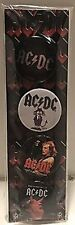 AC/DC Logo / Images strip of 4 x 30mm round pin badges    (cv)
