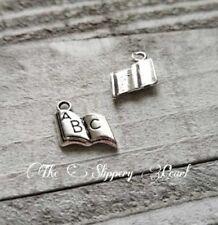 BULK Charms ABC Book Charms Silver Pendants Wholesale Charms 50pcs