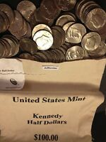 1971 - 2019 PD Kennedy Half Dollar 100 Coin Lot 2x Silver 90% 40% +U.S. Mint Bag