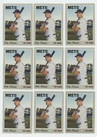 9ct) Pete Alonso 2019 Topps Heritage High Numbers Rookie Card Lot #519 METS