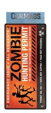 Car Magnet ZOMBIE HUNTER PERMIT - Paper House Productions - NEW