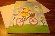 """Aunt EASTER : You're a pretty neat Auntie """" Easter Greeting card .99    New e39"""