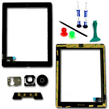 Apple iPad 2 Touch Screen Digitizer Panel Lens Glass Home Button Black Tools UK
