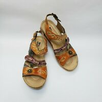 Spring Step Shoes Sandals Multi-Color Suzanne Womens Size 7.5-8 / 38