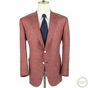 NWOT Brioni Hibiscus Silk Cashmere Woven Static Patch Pkts 2Btn Jacket 46R