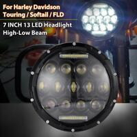 """7"""" DOT LED Projector Headlight Headlamp For Electra/Street Glide/Road King"""