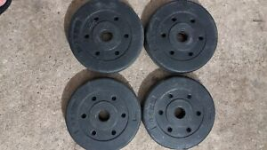 "4 x 2.5kg Black Weight Plates total 10kg for 1inch 1"" barbell or dumbbells (1)"