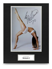 Melanie C Signed 16x12 Photo Display Spice Girls Autograph Memorabilia + COA