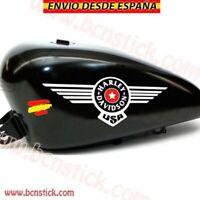 2x Adhesivos Vinilos Decal Calcomanía Sticker Motorc Harley Davidson Tanque