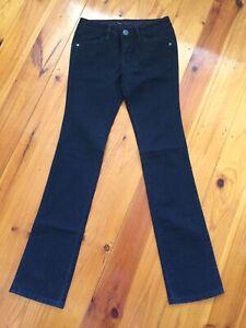 Women Levi's Lady Style Black Long Jeans Pants  Boot Leg Cut W26 L33 PCL 16B