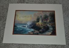 "Thomas Kincade Collector's 1999 ""Light of Peace"" Litho Matted 14"" x 11"" Print"