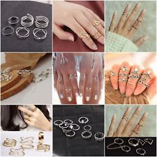 Womens Knuckle Ring Sets Stacking Bands Midi Mid Above Joint Rings Finger Tip