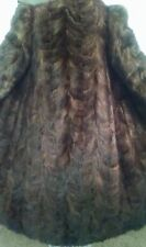 Women's Winter Mink Fur Long Handmade Coat  Size Medium US Brown Color