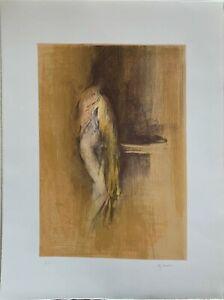 GIUSEPPE AJMONE litografia IN ESTATE  61x46 anno 1972 firmata numerata