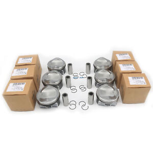Set of 6 Piston & Ring Set Fit For AUDI A4 A5 A6 A7 A8 Q7 3.0TFSI CREC CRED CREH