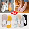 5 Pairs Womens Cotton Short Soild Ankle Socks Casual Low Cut Non-Slip Hosiery