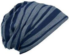 Cool4 Vintage 2 Farben Beanie Stripes Blau-Hellgrau Slouch Retro Mütze VSB21