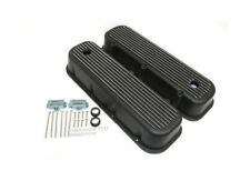 BBC Big Block Chevy FINNED Valve Covers Black 396 454 TALL VINTAGE