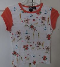 WORTH Ladies Tropical Themed Shirt Size Small EUC