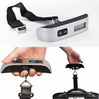 50kg 10g Portable Travel LCD Digital Hanging Luggage Scale Electronic Weight USA