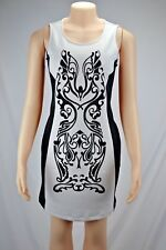 Peter Nygard Petite Women's Sleeveless Dress Size Small Black and White