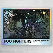 Foo Fighters FOIL VARIANT London Stadium Richey Beckett Screenprint Poster S/N x