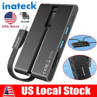 Inateck 9 in 1 USB Type C Hub Adapter 4K HDMI VGA RJ45 Ethernet for MacBook Pro