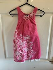 Pink Floral Monsoon Dress Age 4 Years 3/4 4/5 (3075)