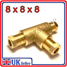 T-piece 8x8x8 COMPRESSION FITTING CONNECTOR TEE GAS COPPER PIPE TUBE COUPLING