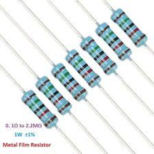 50PCS 1W Metal Film Resistor ±1% 1 Watt / 10R 100R 220R 1K Ohm 4.7K to 1M Ohm